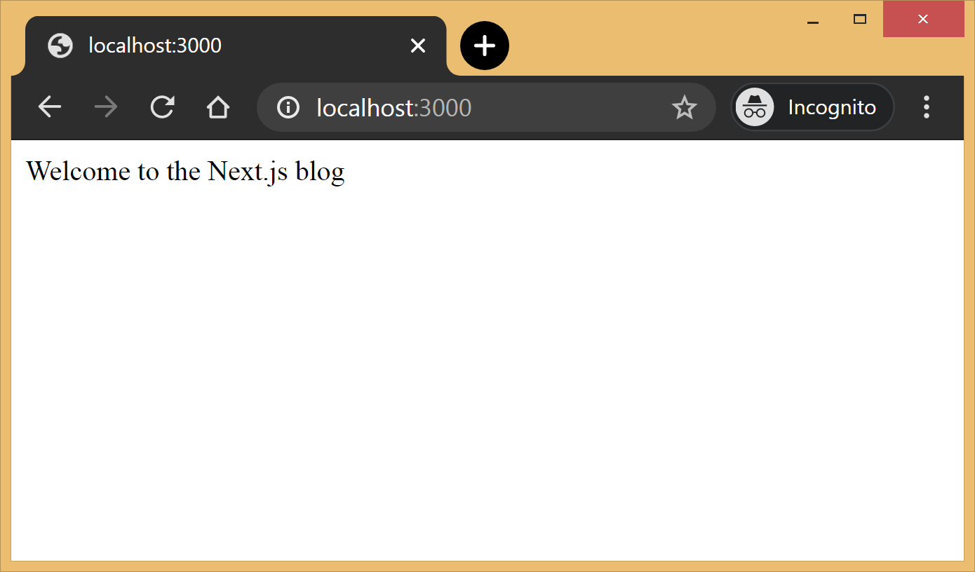 Building a Blog with Next.js